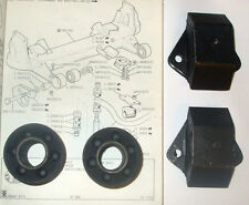 (X4) Jaguar Xj6 Xj12 Xjs Frontal Subcuadro Monturas arbustos (frontal Y Trasera) (1968-96)