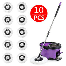 10X Replacement Microfiber Mop Head Refill For Magic Hurricane Spin Mop 360°