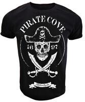 Pirate Cove T Shirt Mens skull crossbones skeleton jolly roger