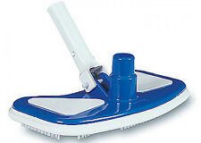 Swimming Pool Adjustable Weighted Vacuum Head w/Brushes For Vinyl, Concrete Pool