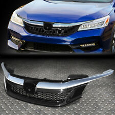 FOR 16-17 HONDA ACCORD SEDAN SPORT STYLE FRONT BUMPER UPPER HOOD GRILLE CHROME