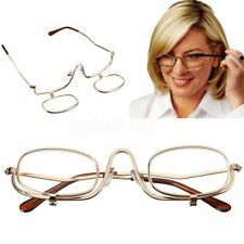 2.00 Magnifying Folding Flip Down Lens Makeup Glasses Spectacles Eye Reader