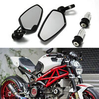 "7/8"" Handle Bar End Mirrors For Ducati Monster 1000 620 695 696 796 821 S2R 1000"