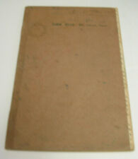1946 Military Log Book for Crash Crew at Hickam Army Air Base, Oahu, Hawaii