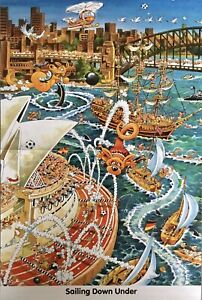 Heye Ryba Sailing Down Under 1000 Piece Jigsaw Puzzle NEW Complete And Sealed