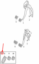 VOLVO XC70 MK2 Sport Pedal Pad Set LHD 30756145 NEW GENUINE