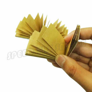 24 Booklets of NEW Unbleached Rolling Paper Filter Tips 1200 Sheets Totally