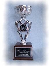 Fantasy Hockey Trophy 16 Year Perpetual Award Silver Cup Fantasy Logo *