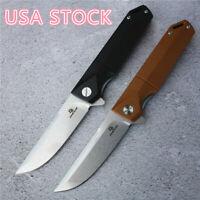 G10 Handle D2 Blade Pocket Ball Bearing Flipper Folding Knife Tactical EDC Knive