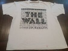 Vtg Roger Waters The Wall Live In Berlin 80's Pink Floyd T-Shirt (XL)