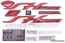 Full set of reflector decal sticker badge logo for Honda SH125 SH125i in Red