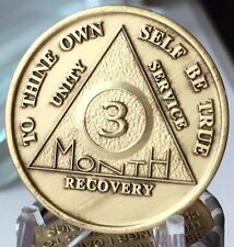 Alcoholics Anonymous 90 Day Recovery Coin Chip Medallion Medal Token AA Days