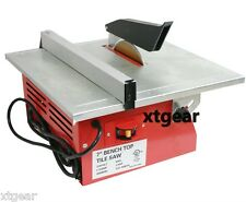 "7"" Wet Tile Saw w/ Tray Tile Cutter Bench Top Tile Saw UL Motor w/ Blade"