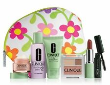 AUTHENTIC CLINIQUE COSMETIC CASE FLORAL - LIME GREEN