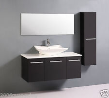 Bathroom Cabinet large single basin with double marble top bench. Vanity MD657