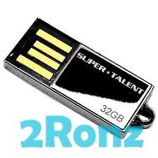 Super Talent PICO USB 32GB 32G Flash Drive Stick Black