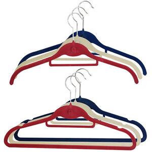 JVL 30 Shirt Suit Space Saving Non Slip Velvet Touch Coat Hangers