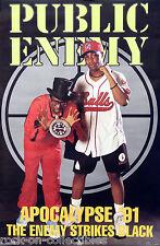 Public Enemy 1991 Apocalypse '91 Enemy Strikes Black Original Store Poster