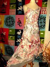 RENE DERHY ROBE DRESS HIPPIE FOLK LIENS XXL  T 36/40