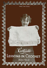 Corticelli #2 c.1917 Hard to Find Book of Vintage Crochet Yokes & Hat Patterns