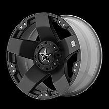 20 inch KMC XD SERIES ROCKSTAR 775 WHEELS RIMS 20x8.5 BLACK 5x5 5x127 JEEP JK