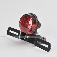 Red Lens Motorcycle Brake Rear License Plate Bracket Tail Light Universal 12V #Y