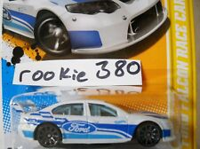 2012 Hot Wheels NEW MODELS #4 * FORD FALCON RACE CAR * MF WHITE BLUE OVAL LOVE