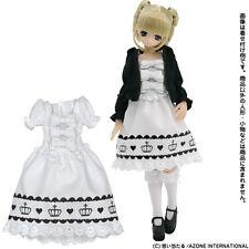 Azone Pureneemo Clown Print One-Piece White Blythe Pullip Momoko Doll DAL Obitsu