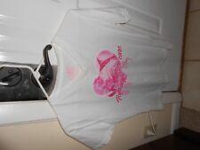 Pink White Guy Harvey T-Shirt Breast Cancer Aware Women's Size M V Neck