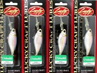 "(4) Lucky Craft Made JAPAN US Shad 65 F Float 2 1/2"" Crankbaits MS American Shad"