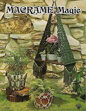 1975 Macrame Magic Book H234 Double Plant Hangers, Planter Lamp, Shelf Patterns