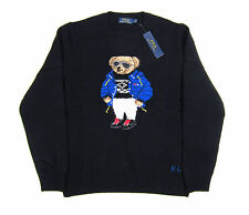 NEW WITH TAGS POLO RALPH LAUREN RLX BLACK SKI BEAR KNIT SWEATER NWT DEADSTOCK L