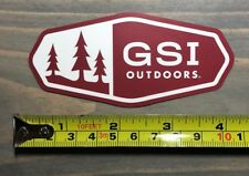 """GSI Outdoors Sticker 4"""" Decal Cookware Backpacking Tent Red Camping Hiking"""