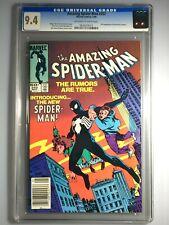 AMAZING SPIDER-MAN 252 - CGC 9.4 - Newsstand Edition - 1st Black Costume