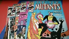 Marvel NEW MUTANTS (X-men)  #31-35. Gladiators VF- Magneto replaces Prof. X
