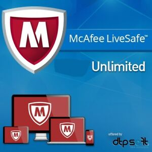 McAfee LiveSafe 2021 for Windows / Android / iOS - Unlimited Devices 2020 UK