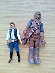Star Wars Figure 2008 Millennium Falcon Legacy Collection Han Solo Chewbacca