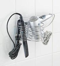 Secador De Pelo Para Alisar sostenedor del soporte de montaje en pared Baño Organizador ordenado Nuevo