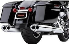 Cobra Exhaust Chrome Tri-Oval S/O Mufflers Harley Davidson FLH, FLT - 6219