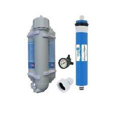 Osmoseur aquarium et manometre 100 GPD 380 l/J