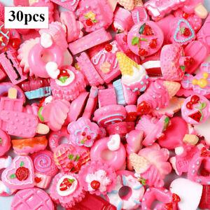 30PCS DIY Nail Charms Candy Mixed Resin Nail Art Rhinestones Manicure Decoration