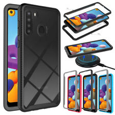For Samsung Galaxy A21 Case Shockproof Bumper Hybrid Rugged Hard TPU Phone Cover