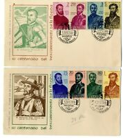 2 Sobres primer dia sellos España 1960 Forjadores de America first day Spain