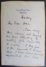 George Frederic Watts, Artist, Pre-Raphaelites, ALS, SIGNED letter