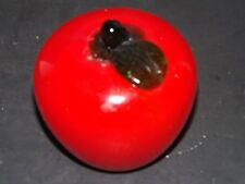 HAND BLOWN GLASS DECORATIVE FRUIT RED TOMATO LIFE SIZE