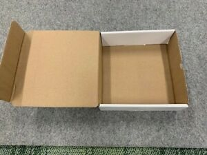 """Corrugated box: 9"""" x 9"""" x 3""""H, white on outside, tan inside-50 per pack, gift bx"""