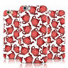 RED POLKA DOT TEAPOT PRINT WHITE CASE COVER FOR APPLE IPHONE MOBILE PHONES