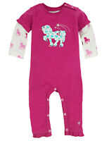 NWT Hatley Baby Girls Unicorn Horse Long Sleeve Romper Jumpsuit 6-12 12-18 M