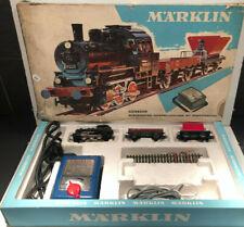 Marklin Coffret Ho Train Electrique Locomotive à vapeur+2 wagons+transformateur