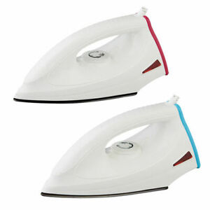 New 1400W Dry Iron Soleplate Indicator Light Blue Electric Cord Non Stick Iron z